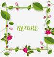 border template with roses and leaves vector image vector image