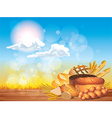 breads sunny background vector image vector image