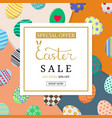 calligraphy lettering easter sale inscription vector image vector image