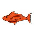 cartoon fish icon image vector image vector image