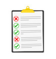 checklist isolated vector image vector image