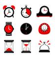 clock time hour sign design element vector image