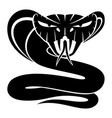 cobra snake sign vector image vector image