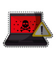 computer with computing alert vector image vector image