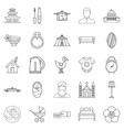 conjugal icons set outline style vector image vector image