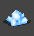 crystalline stone or gem and precious gemstone for vector image vector image