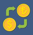 Currency exchange Dollar and Turkish Lira vector image vector image
