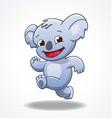cute smiling happy koala running vector image vector image