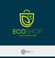eco shop logo vector image vector image