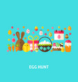 egg hunt greeting card vector image vector image