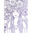 fairy with long hair vector image vector image
