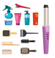 fashion hairdresser with hair clipper and vector image vector image