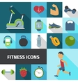 Fitness icons flat shadow set vector image vector image
