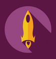 flat modern design with shadow icon rocket vector image vector image