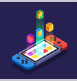 gaming development design concept vector image