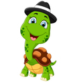 Happy cartoon turtle vector image vector image