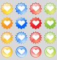 Heart Love icon sign Big set of 16 colorful modern vector image vector image
