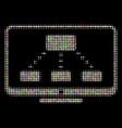 hierarchy monitoring halftone mosaic of dots vector image vector image