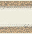 horizontal lace frame with stylish leaves vector image vector image