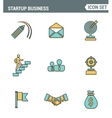 icons line set premium quality startup business vector image vector image