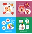 Insurance Concept Icons Set vector image vector image