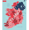 ireland country detailed editable map vector image vector image