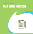 join our team busienss company document we are vector image vector image