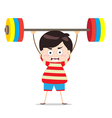 Kids weightlifting vector image vector image