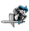knight with a big sword vector image vector image