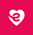 letter e heart logo icon design template elements vector image vector image