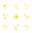 lights stars set sparkles icons decoration vector image vector image