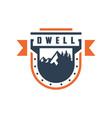 logo shield emblem mount vector image vector image