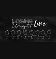 losing weight timeline chalk vector image vector image