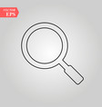 magnifying glass line icon outline sign vector image