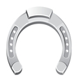 Metallicsilver horseshoe vector image
