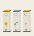 Modern boxes in minimal style for design vector image vector image