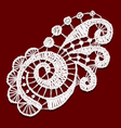 Openwork lace Realistic vector image vector image