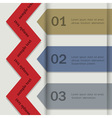 Paper banners for Infographics vector image