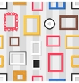 Photo frame seamless pattern vector image vector image