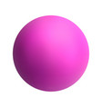 pink ball on white isolated background vector image vector image