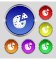 Pizza Icon Set colourful buttons sign vector image