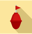 port buoy icon flat style vector image vector image