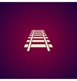 Railroad icon Modern design flat style vector image vector image