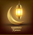 ramadan kareem greeting card islam lamp vector image vector image