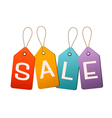 sale tags concept discount shopping vector image