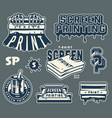 screen printing elements collection vector image