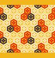 seamless japanese kikkou pattern vector image vector image
