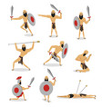 set character rome gladiator in different vector image vector image
