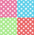 Set of four polka dot seamless patterns vector image