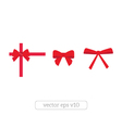 Set of red bows vector image vector image